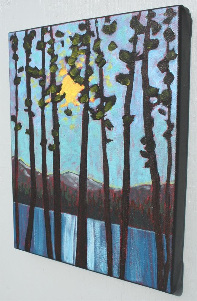 """""""Lake and Trees"""" original fine art by Sage Mountain"""