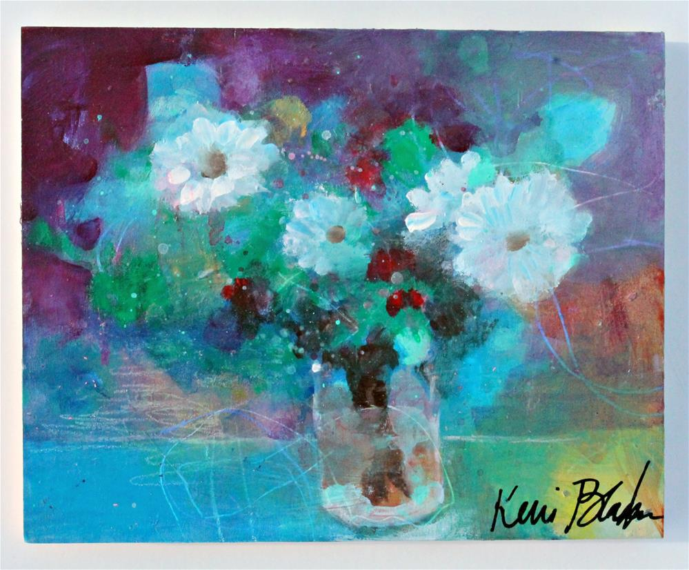 """Just Some Cheerful Flowers"" original fine art by Kerri Blackman"