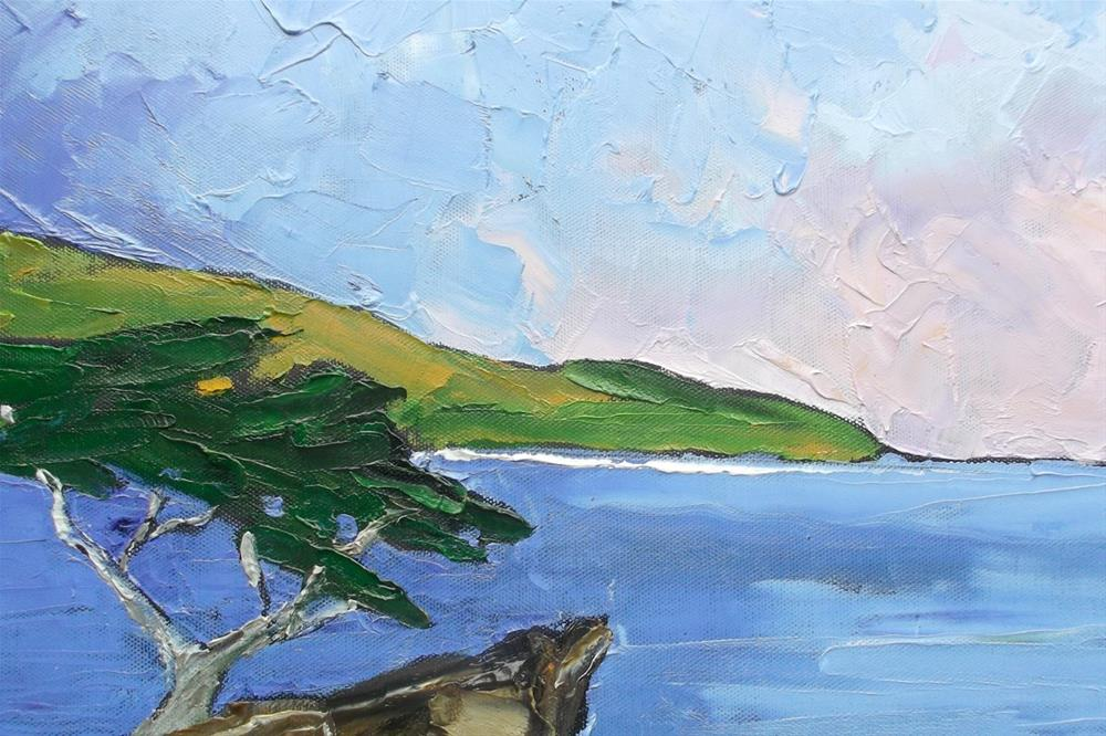 """Monterey Bay Lone Cypress"" original fine art by lynne french"