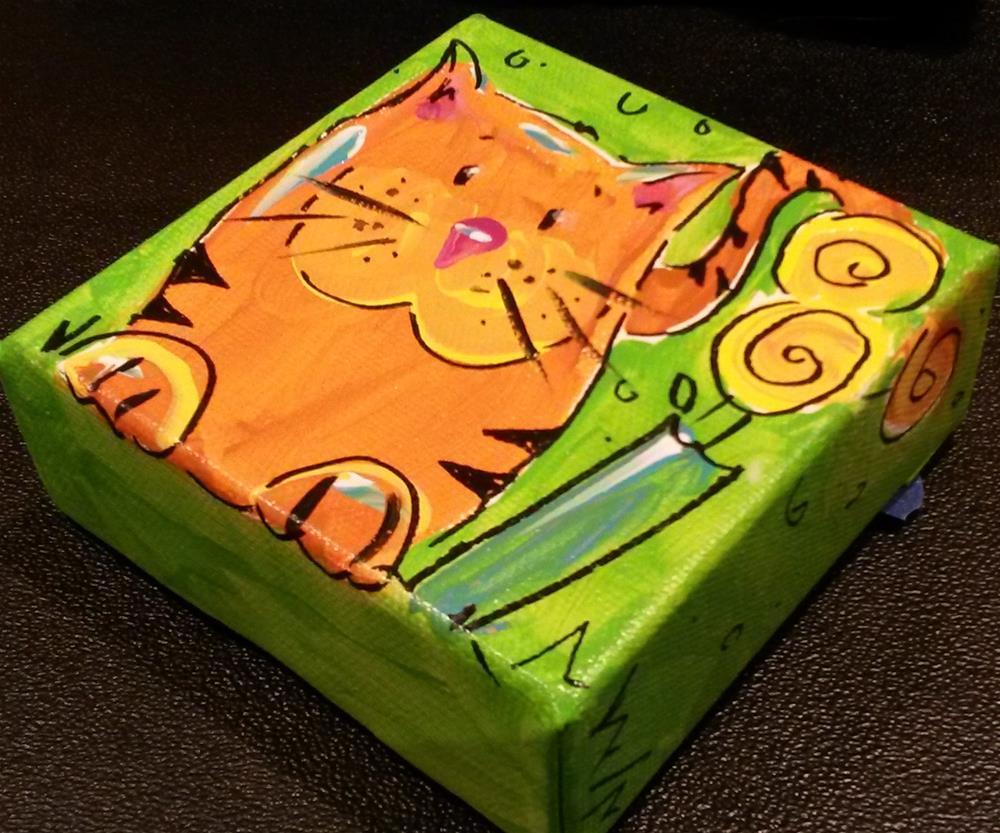 """Chunky Kitty"" original fine art by Terri Einer"