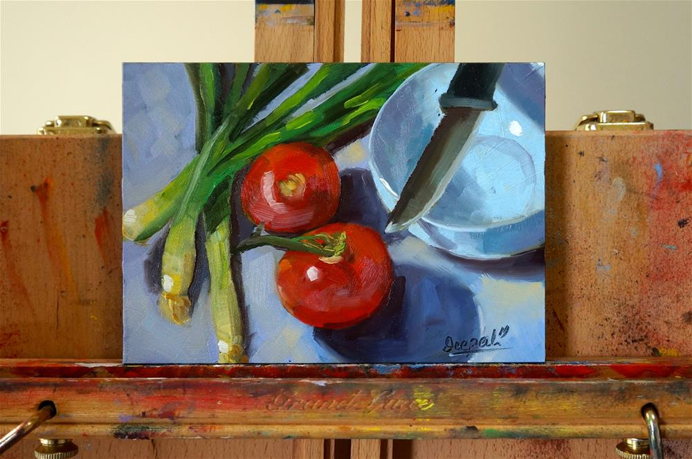 """Tomatoes"" original fine art by Dipali Rabadiya"