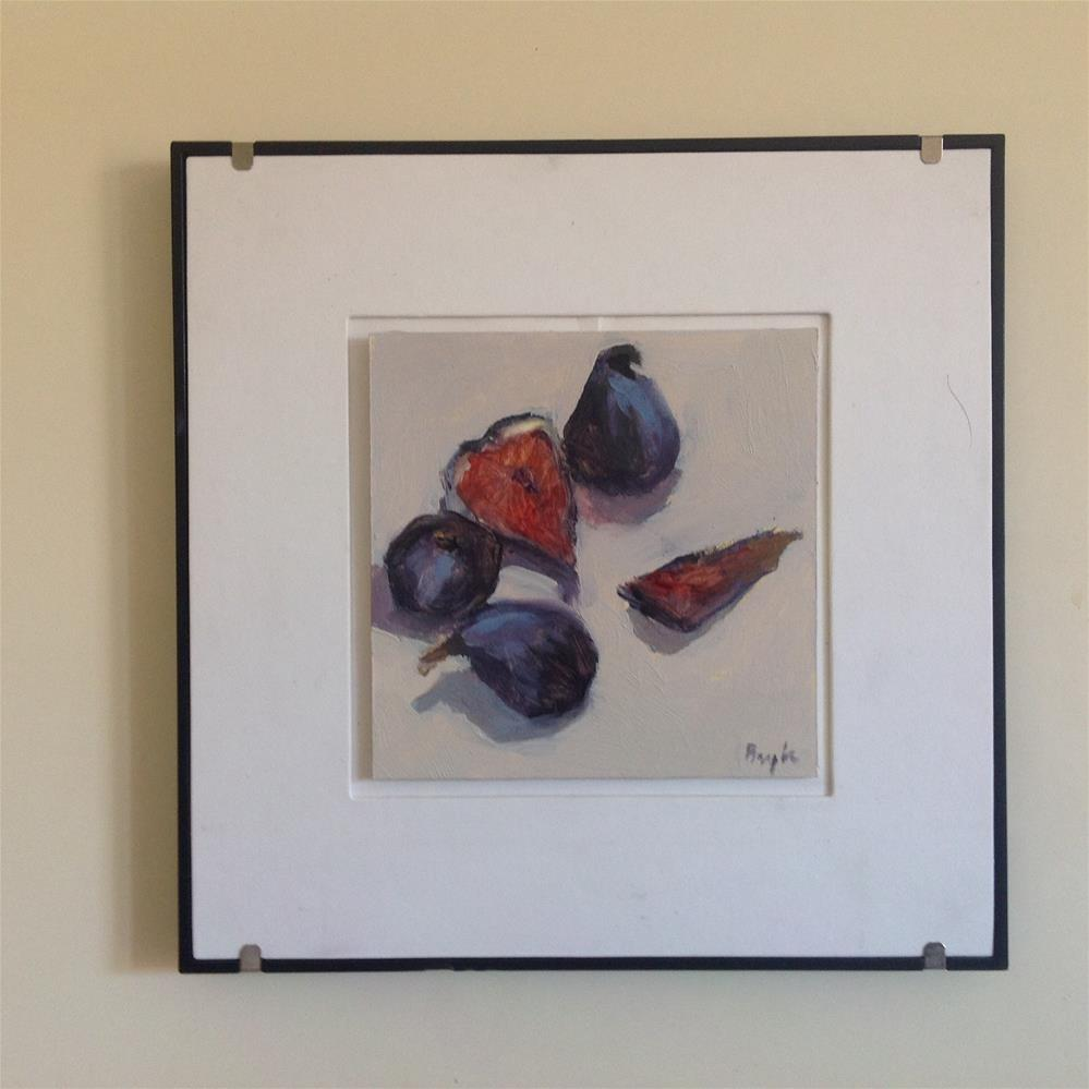 """Black figs"" original fine art by Christine Bayle"