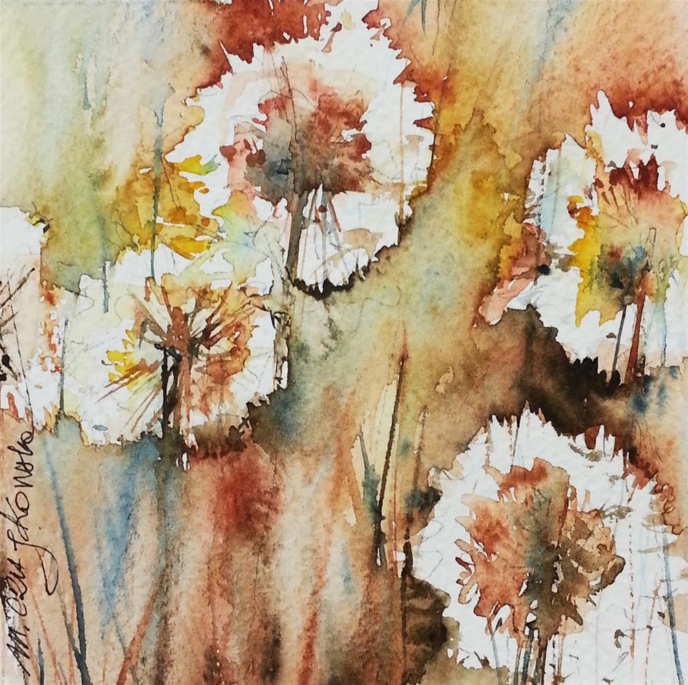 """Dandelion 5"" original fine art by Marlena Czajkowska"