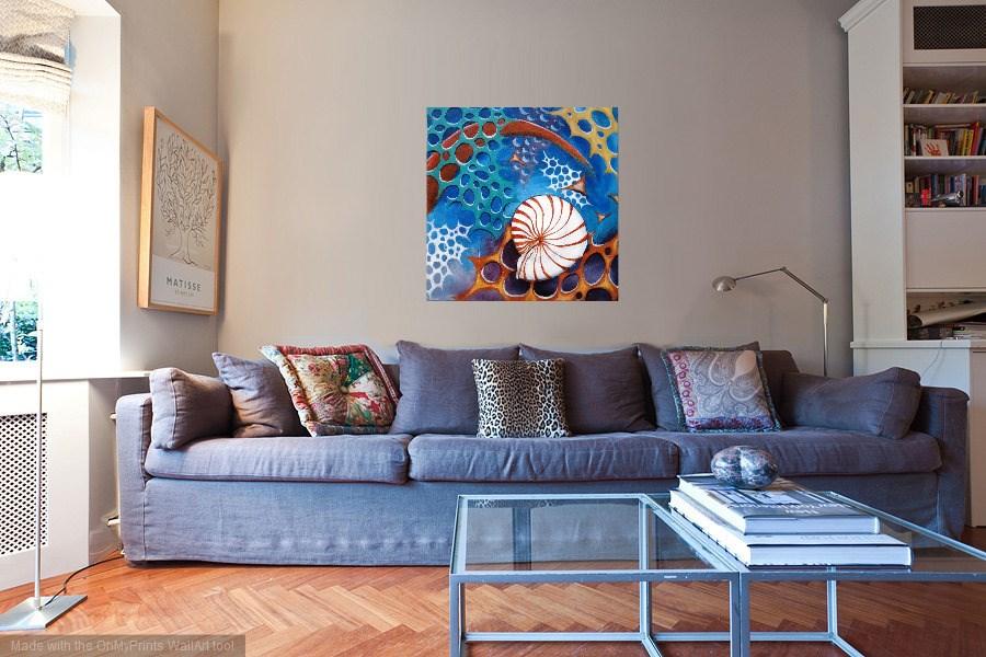 """""""Nautilus"""" original fine art by Laura B."""