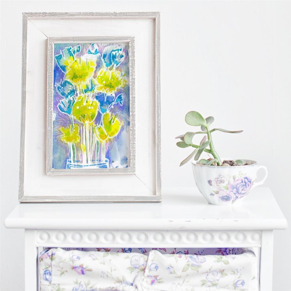 """Chartaqua - Blooms"" original fine art by Tonya Doughty"