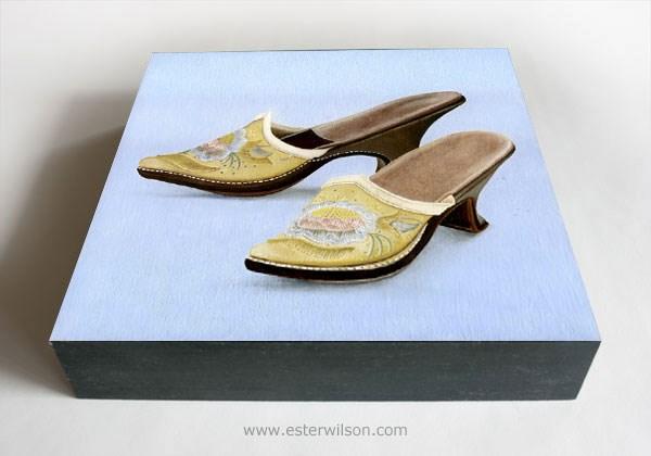 """""""Pale Yellow Shoes"""" original fine art by Ester Wilson"""