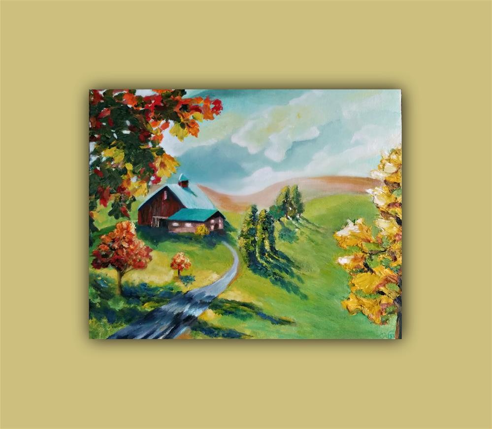 """Autumn's Light"" original fine art by Dana C"