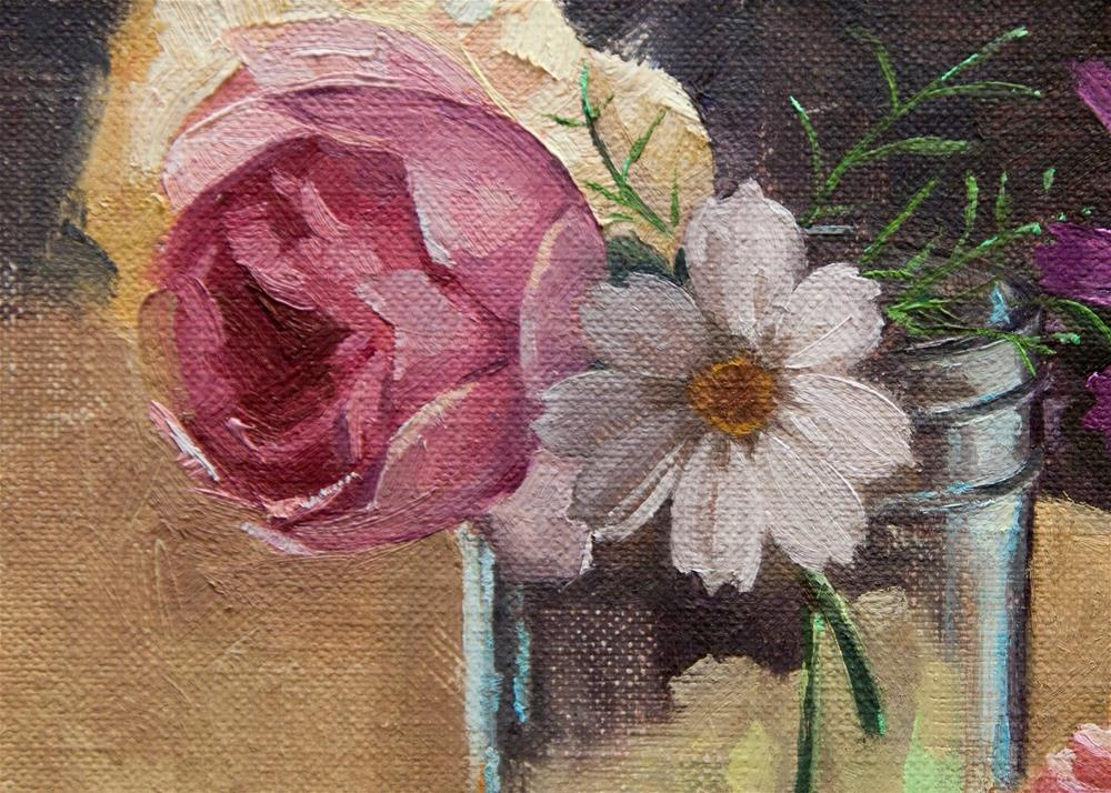 """Cupcake and Flowers"" original fine art by Catherine Bobkoski"