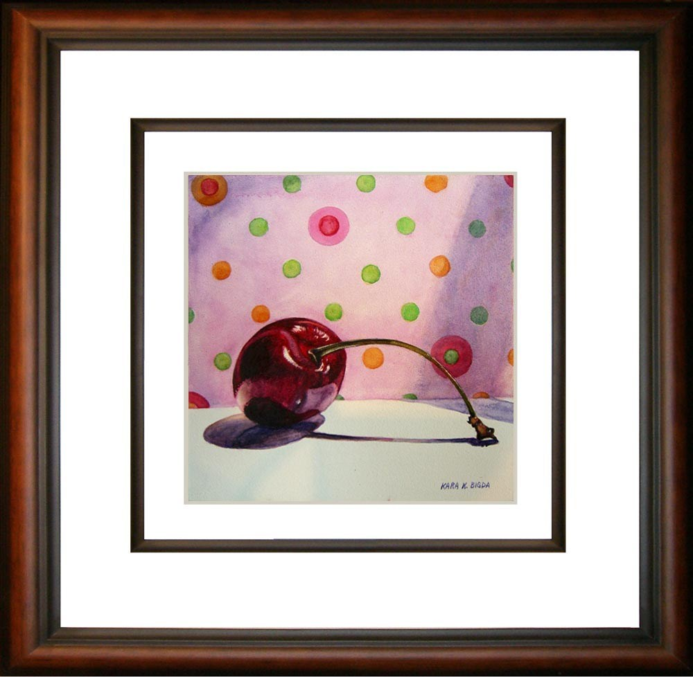 """Polka Dot Cherry"" original fine art by Kara K. Bigda"