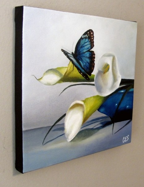 """""""Something Blue"""" original fine art by ~ces~ Christine E. S. Code"""