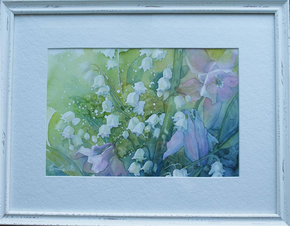 """""""Lilies of the Valley And Columbines"""" original fine art by Emilia Leinonen"""
