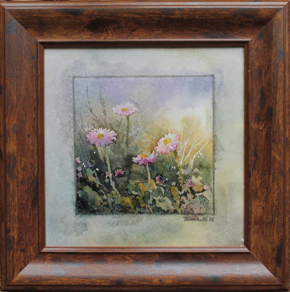 """Lawn Daisies"" original fine art by Emilia Leinonen"