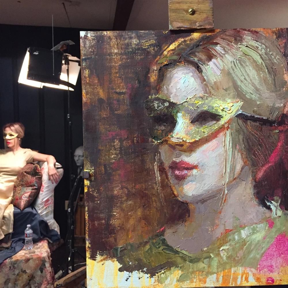 """""""Golden"""" original fine art by Johanna Spinks"""