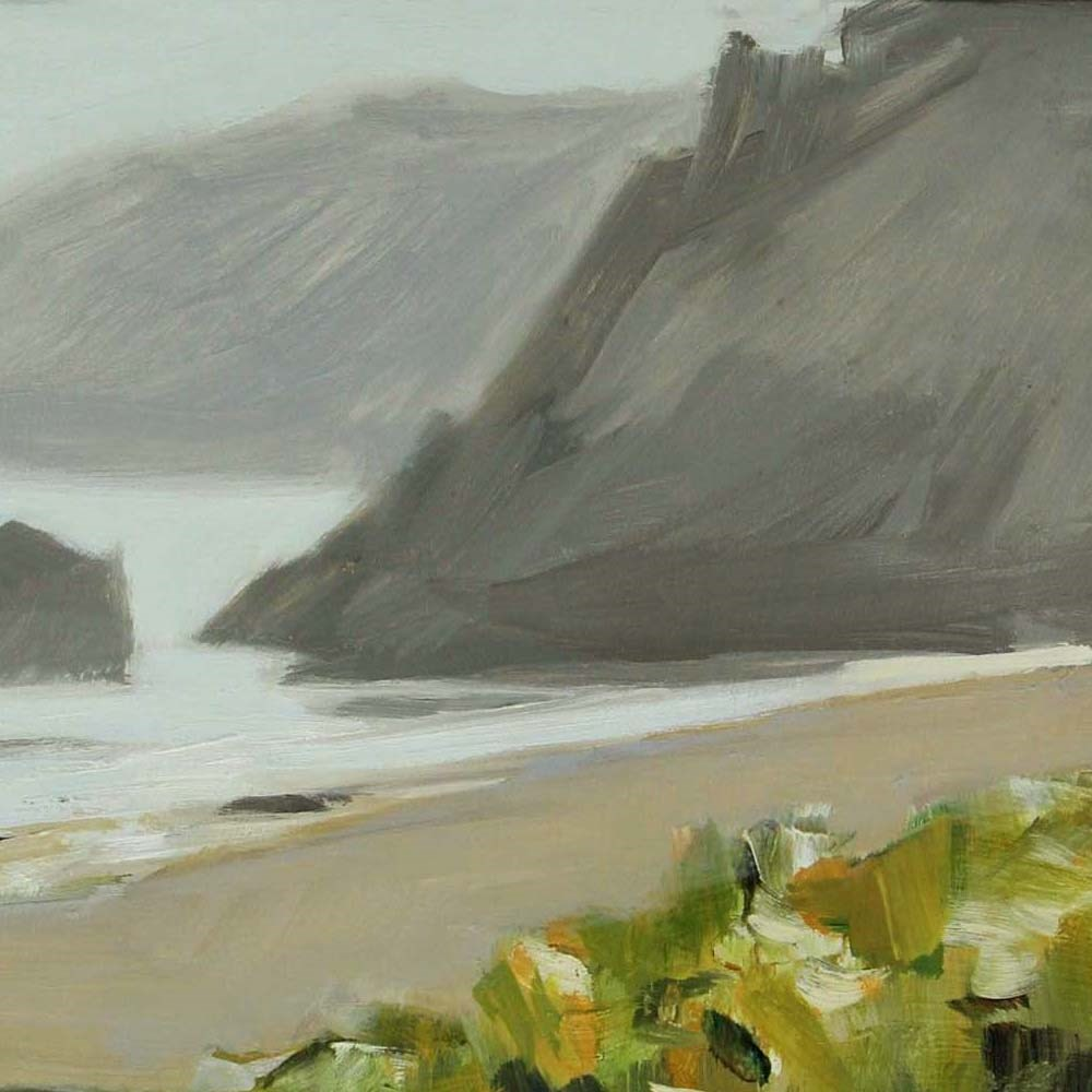"""Oregon Headlands"" original fine art by Gretchen Hancock"