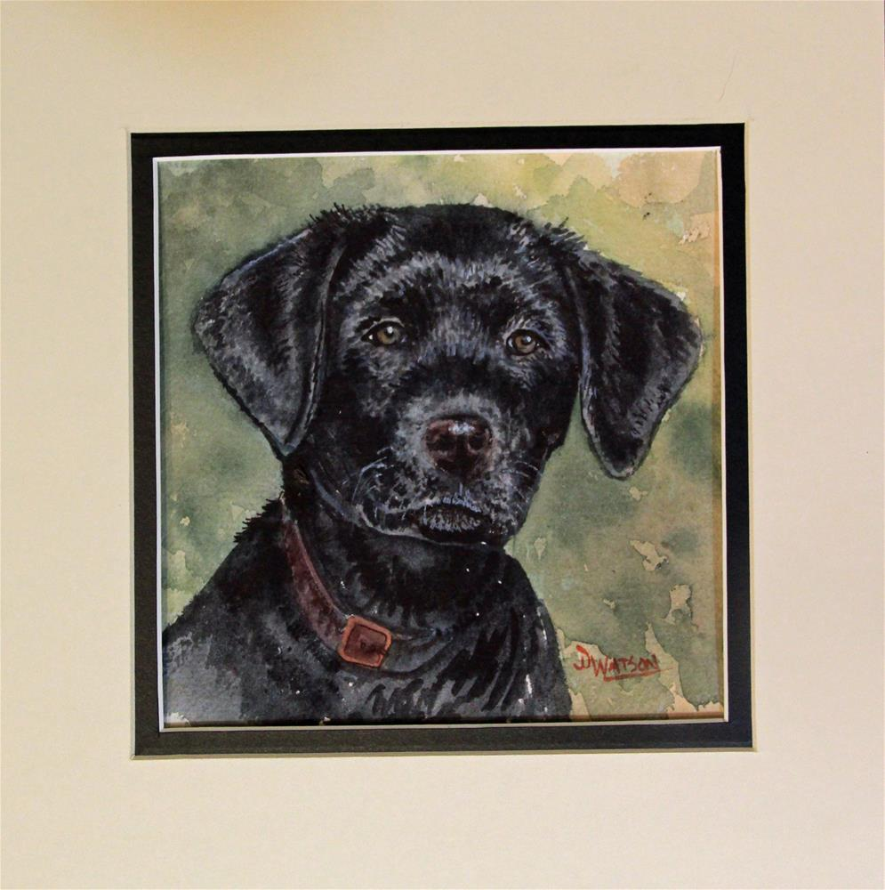 """Labrador Puppy"" original fine art by Deb Watson"