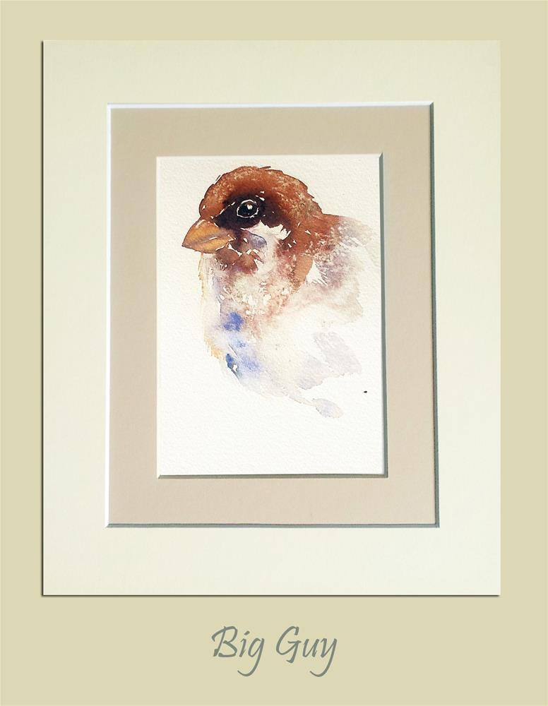 """Big Guy Sparrow"" original fine art by Arti Chauhan"