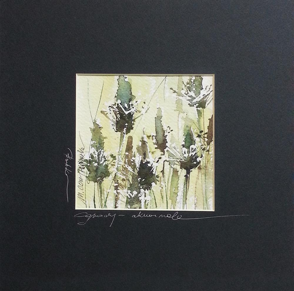 """Plantain"" original fine art by Marlena Czajkowska"