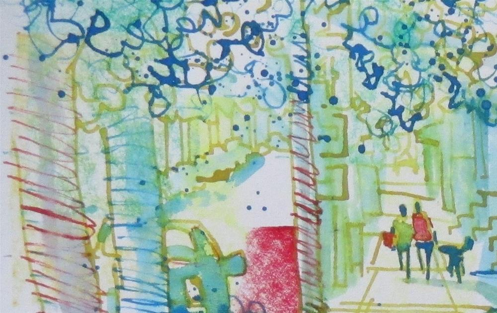 """""""A Joyful Walk by Larry Lerew 160809"""" original fine art by Larry Lerew"""