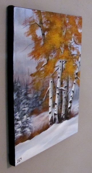 """Early Snow"" original fine art by ~ces~ Christine E. S. Code"