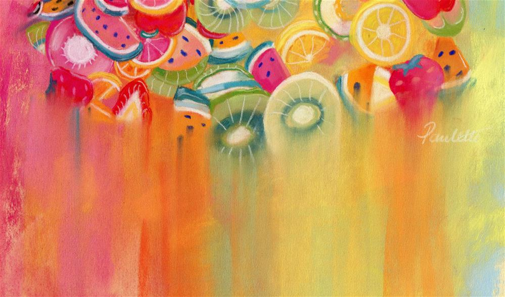 """Fruit Salad"" original fine art by Paulette Farrell"