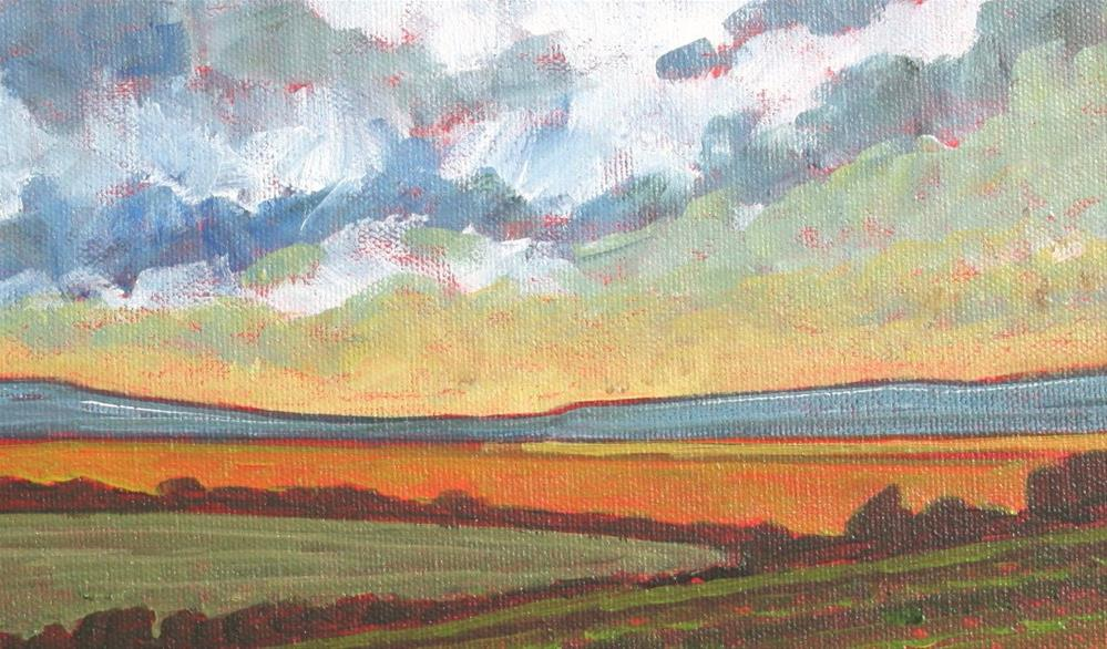 """Last Light on the Fields"" original fine art by Sage Mountain"