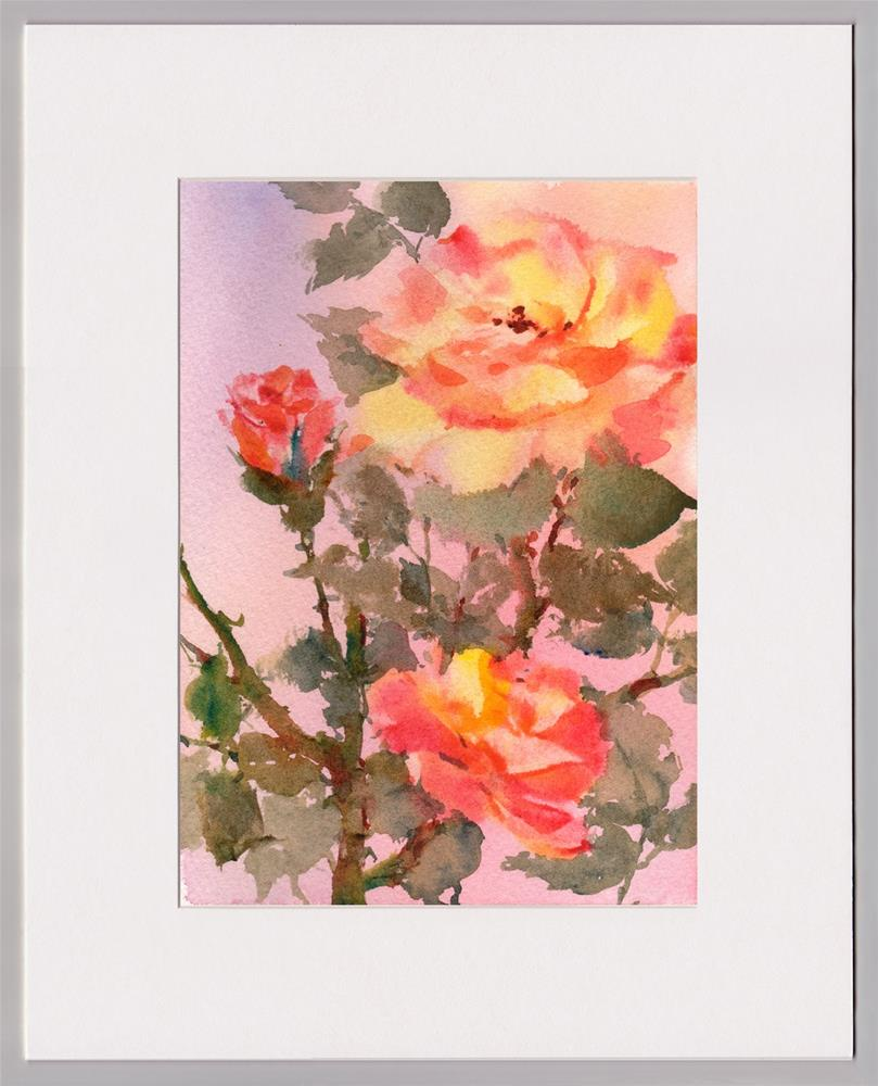 """A Rose for Peace"" original fine art by Linda Henry"
