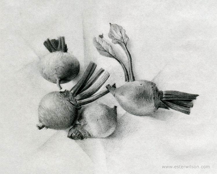"""Beets"" original fine art by Ester Wilson"
