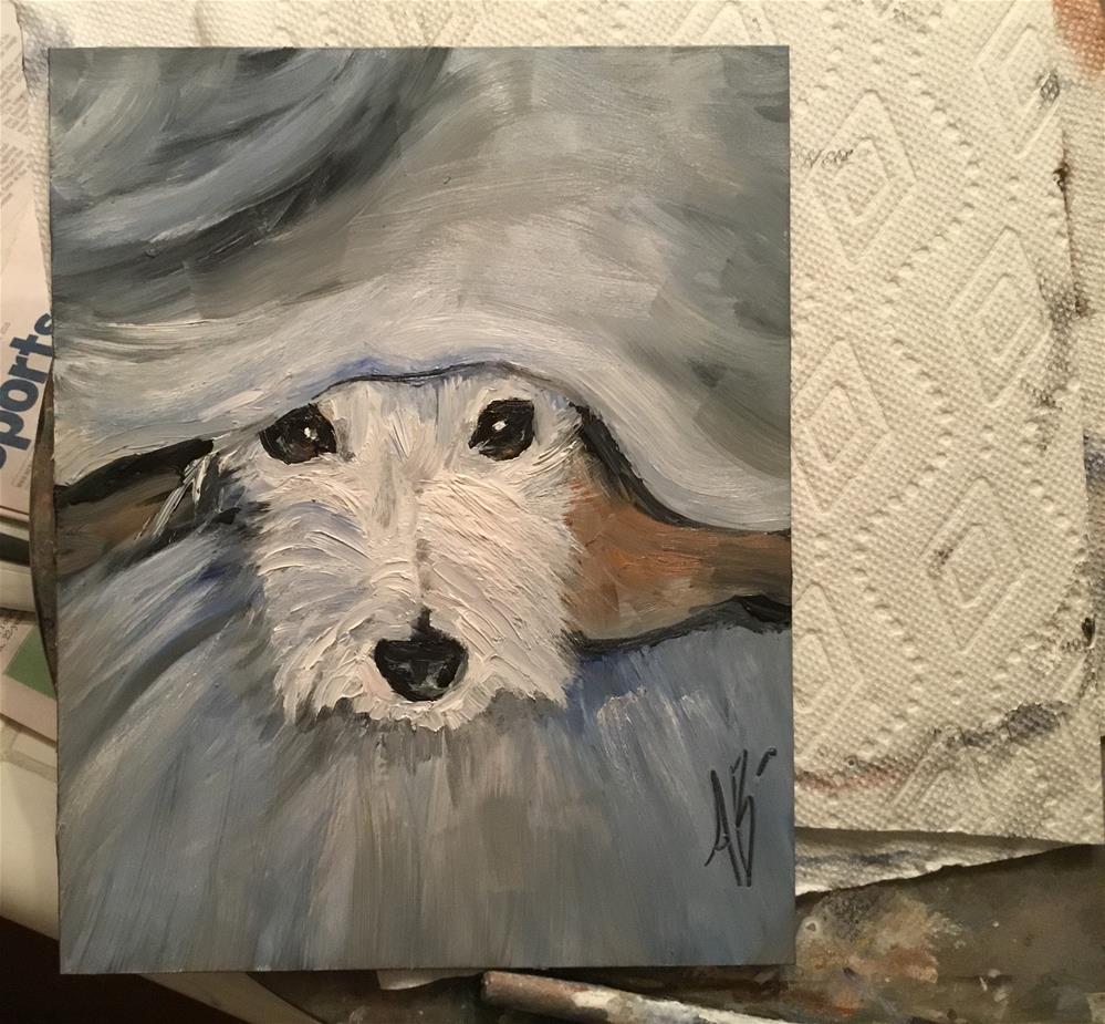 """Hide-and-Seek me"" original fine art by Annette Balesteri"