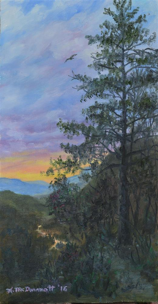 """Lonesome Pine Trail (C) 2016 by K. McDermott"" original fine art by Kathleen McDermott"