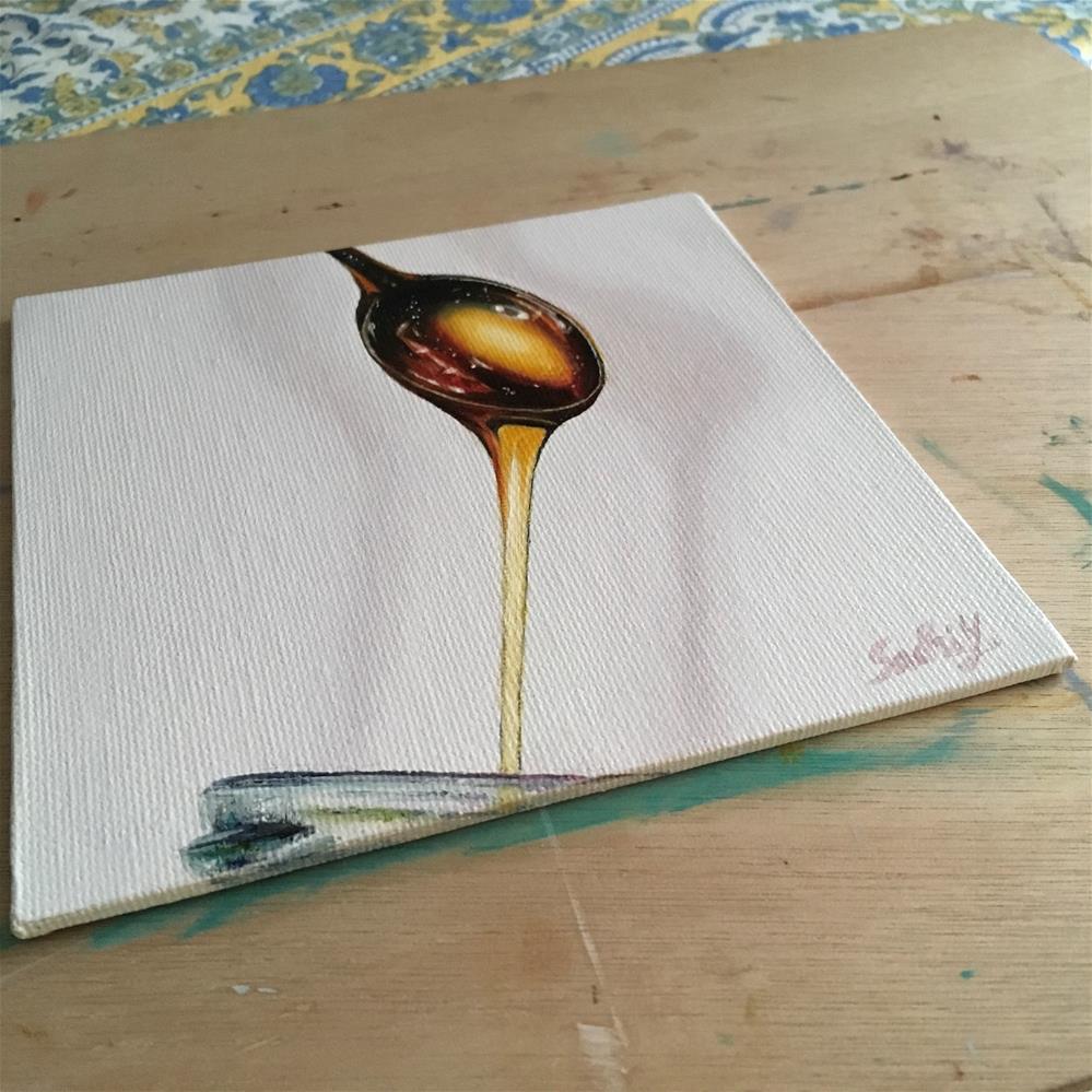 """A Galaxy in Honey"" original fine art by Sachi Yoshimoto"