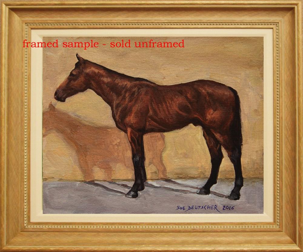 """""""Thoroughbred Horse - American Pharoah"""" original fine art by Sue Deutscher"""