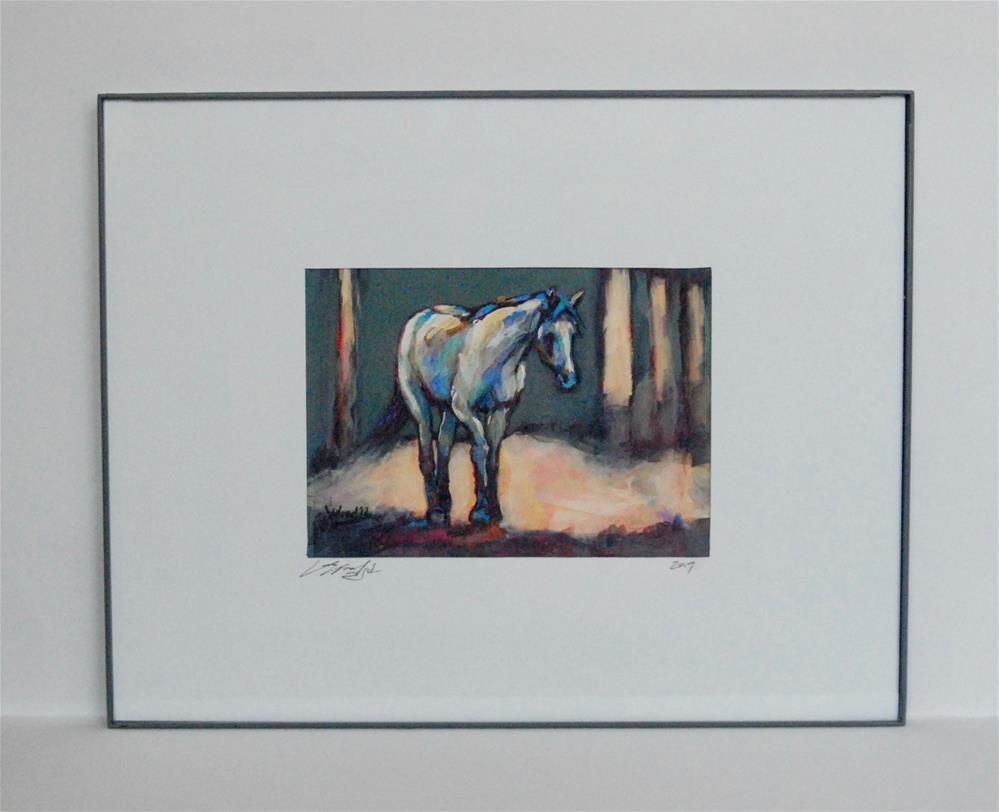 """framed quarterhorse"" original fine art by Vicki Wood"