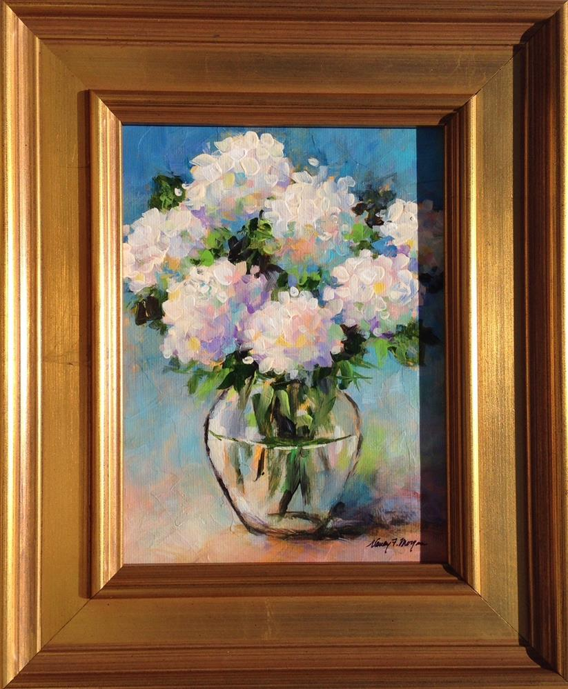"""Soft Hydrangeas"" original fine art by Nancy F. Morgan"