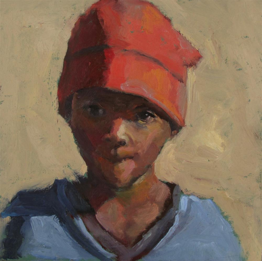 """The Red Hat"" original fine art by Dana Cooper"