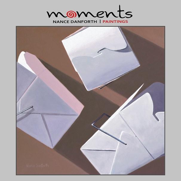 """""""Three Take Out Boxes"""" original fine art by Nance Danforth"""