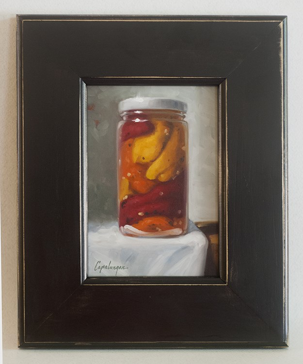 """Fire Roasted Peppers"" original fine art by David Capalungan"