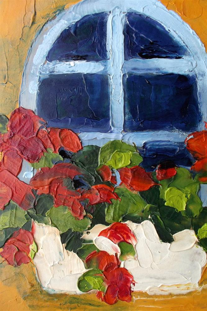 """PROVENCE GERANIUMS"" original fine art by lynne french"