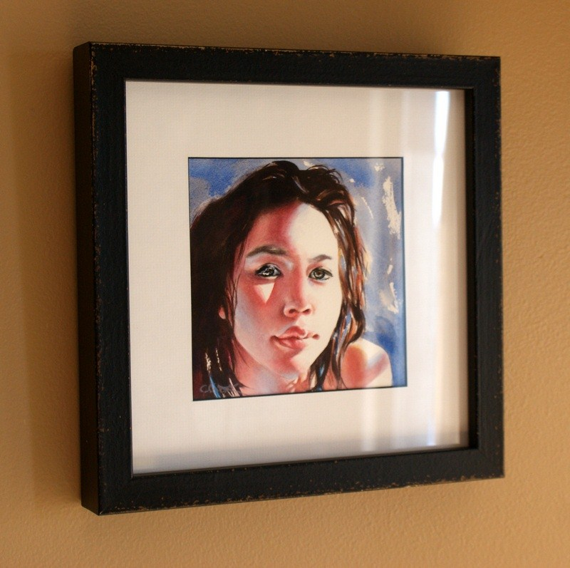 """Penumbra - Framed"" original fine art by Crystal  Cook"