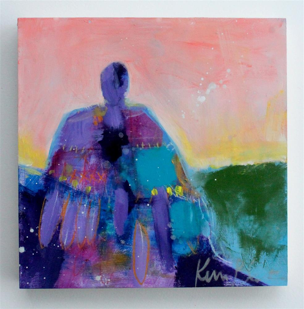 """Angel at Sunrise "" original fine art by Kerri Blackman"