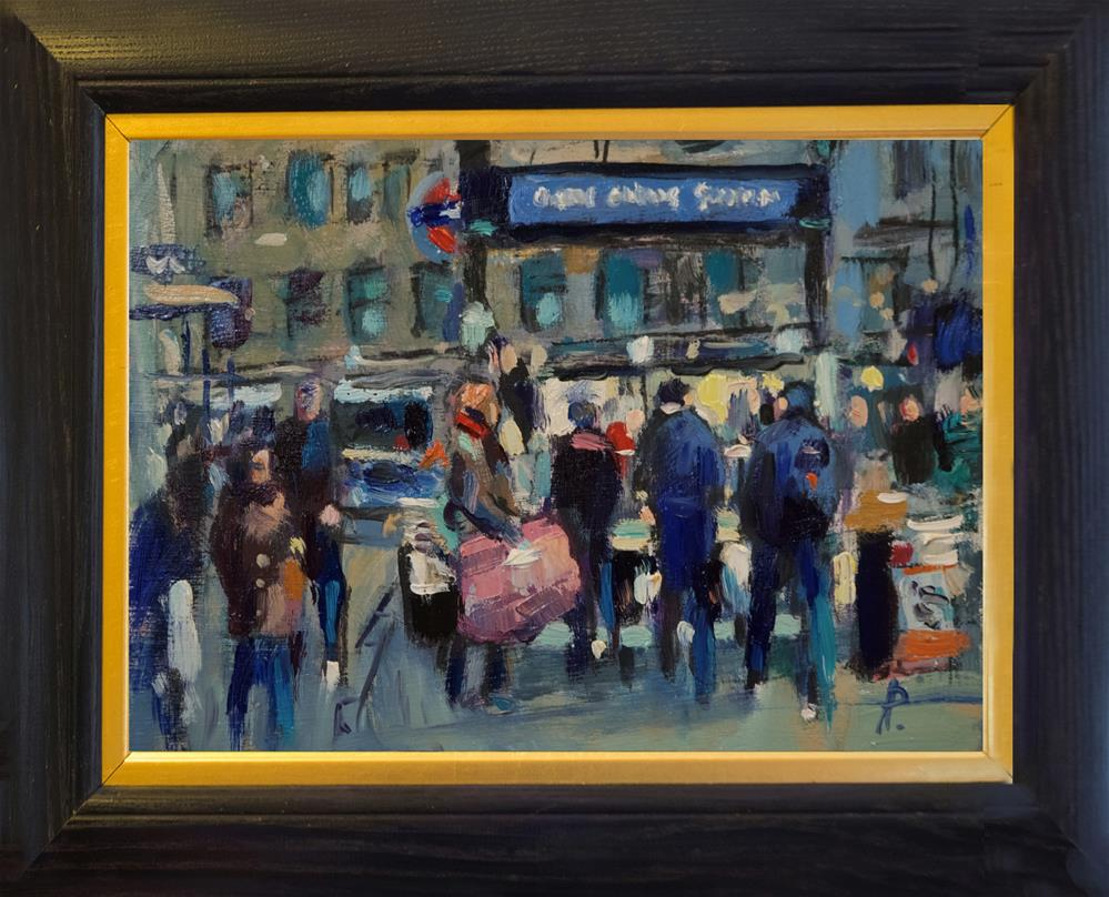 """Oxford Circus Station"" original fine art by Andre Pallat"