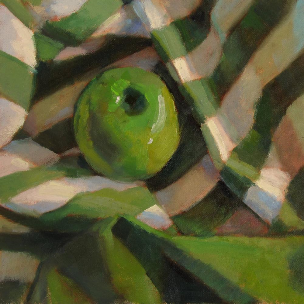 """Striped Green"" original fine art by Dana Cooper"