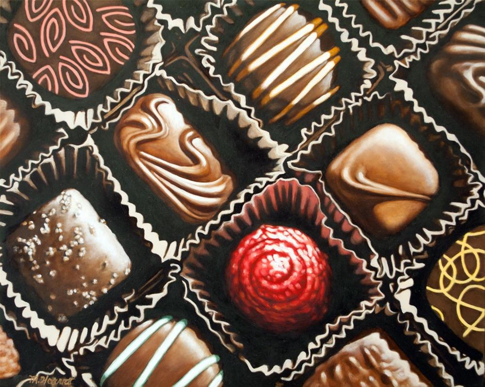 """""""Cherry Chocolate and Friends"""" original fine art by Margaret Horvat"""