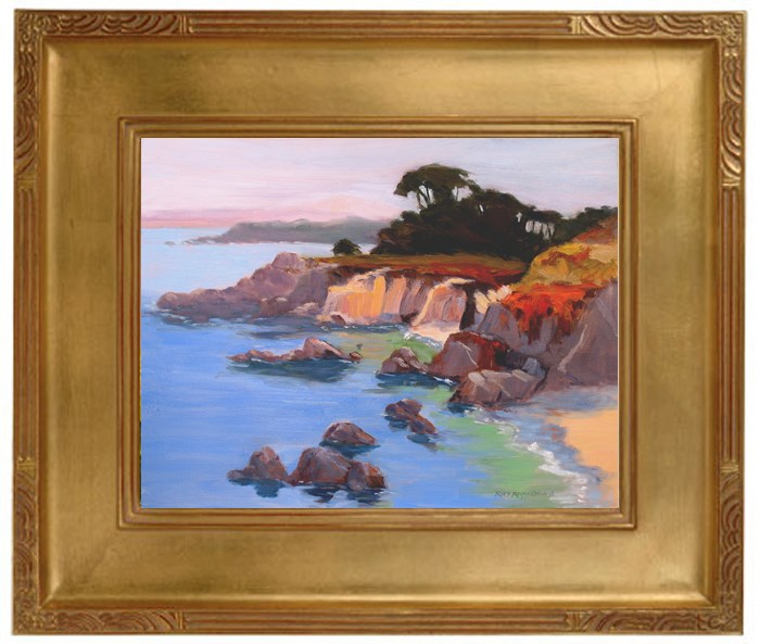 """Pacific Grove Cliffs"" original fine art by Rhett Regina Owings"