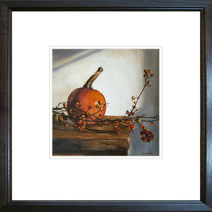 """A Bittersweet Pumpkin"" original fine art by Kara K. Bigda"