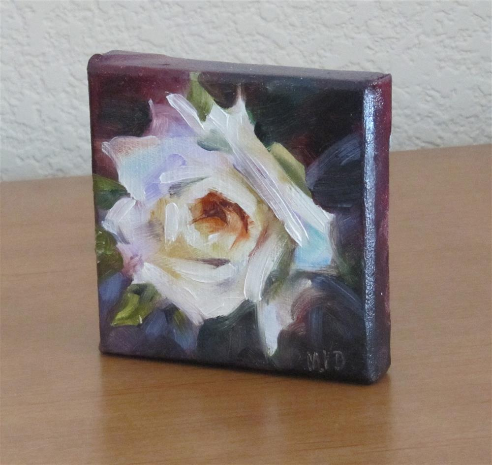 """White Rose"" original fine art by Mary Van Deman"