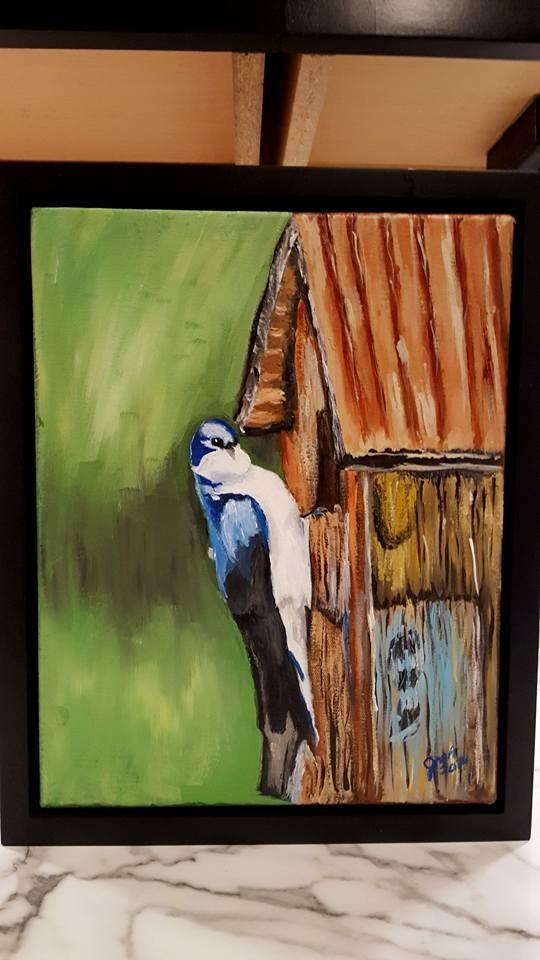 """Lighthouse1"" original fine art by Joan Anderson"