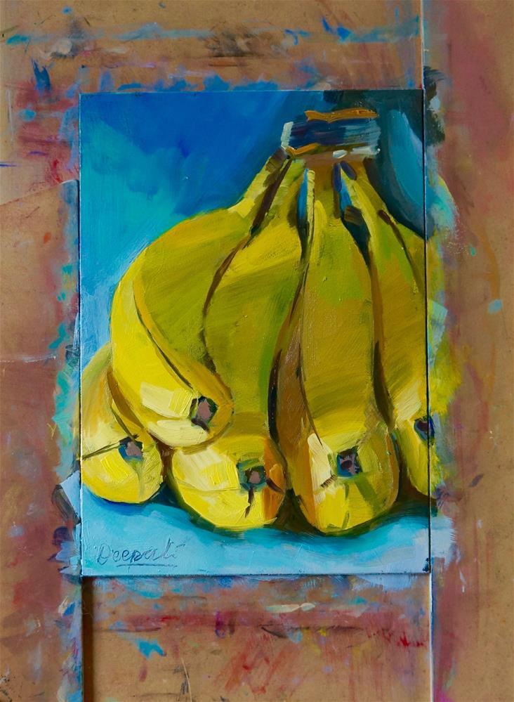 """Bananas"" original fine art by Dipali Rabadiya"