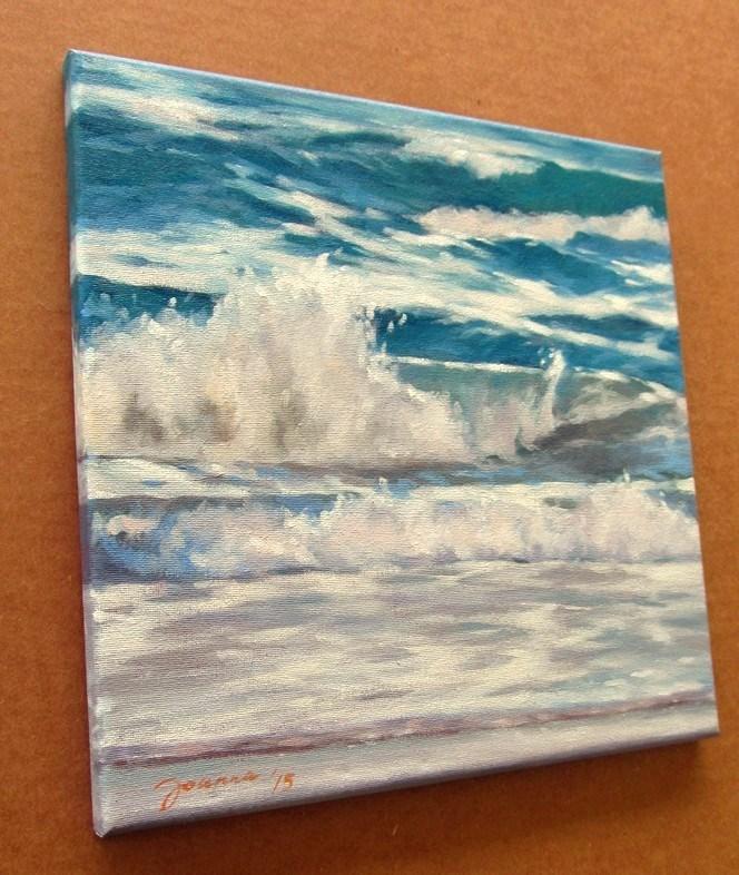 """Atlantic Waves"" original fine art by Joanna Bingham"