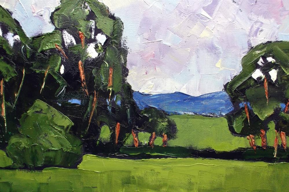 """Green  California"" original fine art by lynne french"