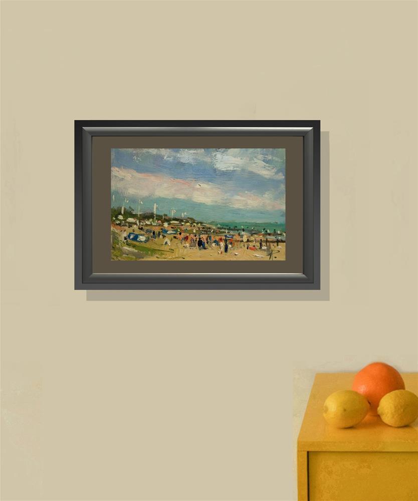 """Summer on the Beach"" original fine art by Andre Pallat"
